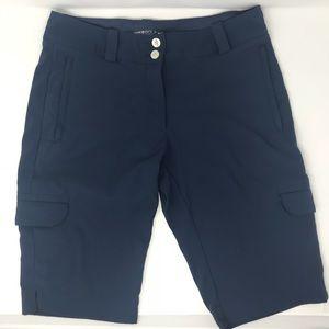 Nike Golf Dri Fit Women's 4 Navy Blue Short Cargo